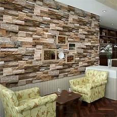 tapisserie effet realistic slate brick wall 3d effect textured vinyl