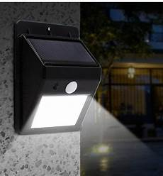 2018 20 led solar lights outdoor waterproof solar powered motion sensor light wireless security