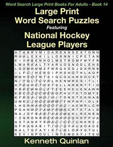 large print word search puzzles featuring national hockey league players by kenneth quinlan