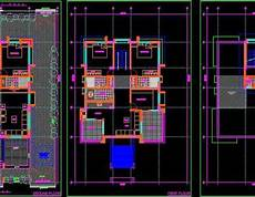 using autocad to draw house plans duplex house floor plan 45 x70 autocad drawing