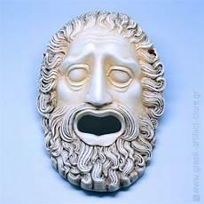 greek masks poseidon ceramic handmade theatrical mask 30cm 11 81 tall greek artifact store