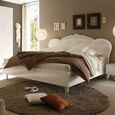 Bett Dea Doppelbett Wei 223 Hochglanz Kopfteil Lederlook Wei 223