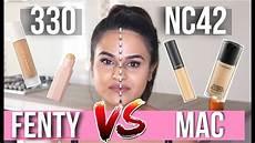 Mac Nc42 fenty profiltr foundation 330 vs mac prolongwear nc42