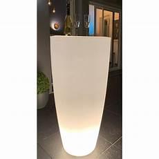 pot de fleur inox pot de fleurs conique 200 l 233 clairage led avec tablette inox