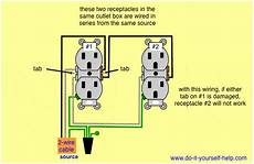 series wiring for 2 outlet box for the home in 2019 outlet wiring outlets wire