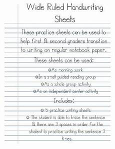 paper worksheets for adults 15642 wide ruled handwriting practice sheets by ashleigh marion tpt