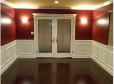 Dining Room After   New hardwood flooring, wainscoting