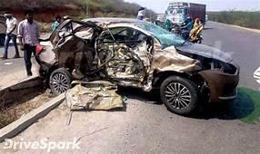 2017 Maruti Suzuki DZire Crashes With Tata Safari New