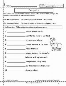 grammar worksheets types of sentences 24993 subjectworksheet2 jpg 1275 215 1650 subject and predicate simple sentences worksheet subject