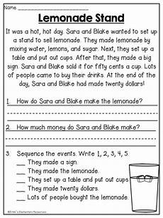 summer first grade review printables first grade reading comprehension reading worksheets