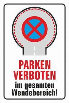 Parken Im Wendehammer - 40x60cm schild aufkleber parken im wendehammer verboten