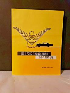 buy car manuals 1958 ford thunderbird on board diagnostic system original 1958 ford thunderbird shop manual tbird 58 book in 2020 ford thunderbird toys for