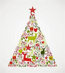 merry christmas tree shape full of elements compos stock vector image 33756393