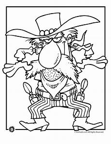 cowboy coloring pages to and print for free