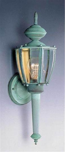 volume lighting v9211 14 verde green 1 light 25 quot height outdoor wall sconce with clear