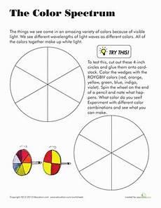 colors spectrum for worksheet color spectrum worksheet education