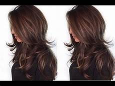 how to quick and easy layered haircut tutorial layered haircut techniques youtube
