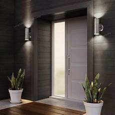 stainless steel up down wall light gu10 ip65 double outdoor wall light zlc03 ebay