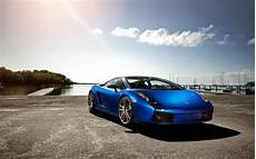 Blue Lamborghini Car Hd Wallpaper