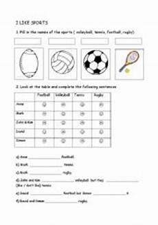 like sports worksheets 15833 i like sport esl worksheet by alys mac water