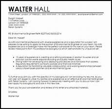 environmental engineer cover letter sle cover letter templates exles