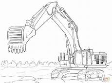 caterpillar excavator coloring page free printable