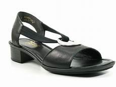 rieker schuhe damen sandalen sandaletten schwarz 62662 01