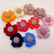 Crochet Flower Hair Bows
