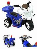 Ride On Police Toy Motorcycle 6V Battery Powered Electric