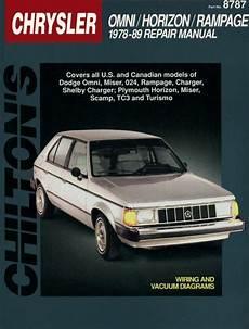 manual repair autos 1978 plymouth horizon instrument cluster 1978 1989 dodge omni horizon rage miser 024 charger tc3 chilton manual
