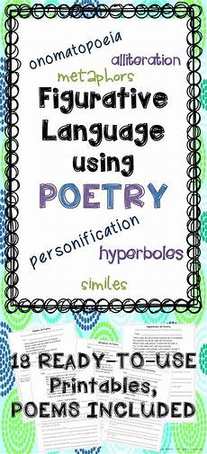 types of poetry worksheet 4th grade 25453 figurative language in poetry no prep poetry activities for poetry month language