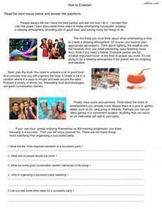 comprehension worksheets 20309 6 topical reading comprehension worksheets for esl classes