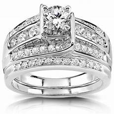 shop annello 14k white gold 1ct tdw diamond bridal ring free shipping today overstock