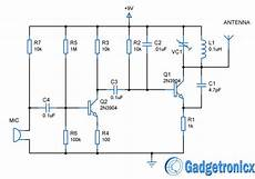 Fm Transmitter Circuit Diagram Schematic by Mini Fm Transmitter Circuit Electronic Circuits