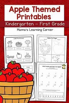 apple worksheets for kindergarten first grade mamas learning corner