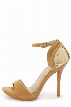 promise emerson gold plated high heel sandals 38 00