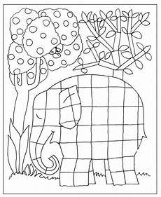 Ausmalbilder Elefant Elmar Elmar Ausmalen Ausmalbilder Elmer El Elefante