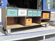 tv schrank metall industrie design metallschrank loft kommode tv lowboard