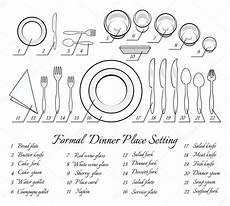 tisch richtig eindecken formal table setting stock vector 169 mssa 62288175
