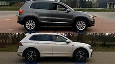 volkswagen tiguan i vs vw tiguan ii 4motion 4x4 test