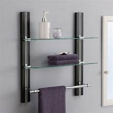 Badezimmer Handtuch Regal - bathroom shelves wall mounted wood towel rack adjustable