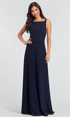 long stretch crepe kleinfeld bridesmaid dress