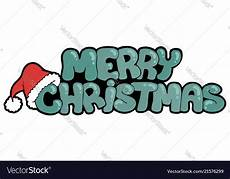 merry christmas sign with hat royalty free vector image