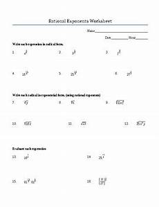 rational exponents worksheet positive and negative includes roots