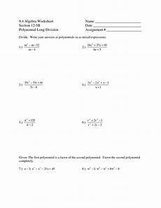 10 best images of synthetic division worksheet high school math worksheets printable
