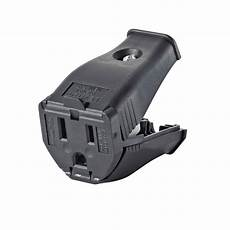 leviton 15 125 volt 2 pole 3 wire grounding cord outlet black r50 3w102 00e the home depot