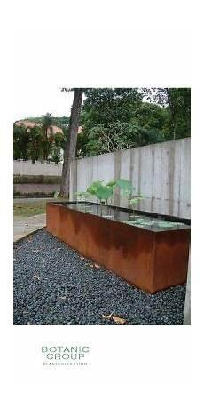 Cortenstahl Brunnen Wasserwand Und Becken Aus Corten