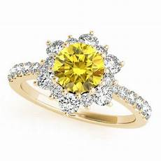 1 32 ct vs2 yellow canary diamond beautiful engagement