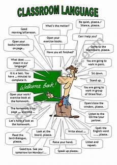 classroom language teacher esl worksheet by htunde