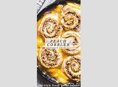cinnamon biscuit peach cobbler_image